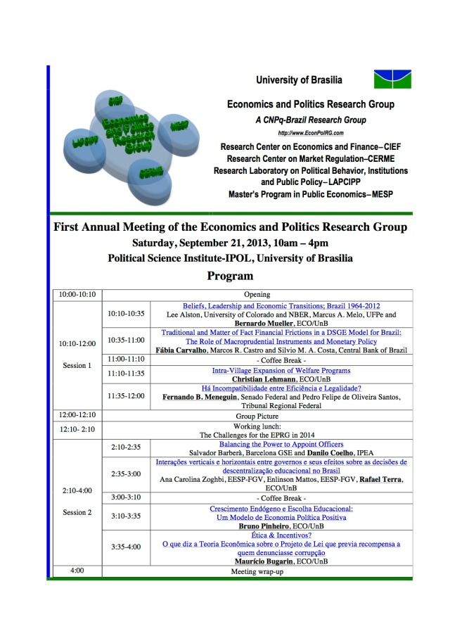 201309 EPRG First Annual Meeting Program