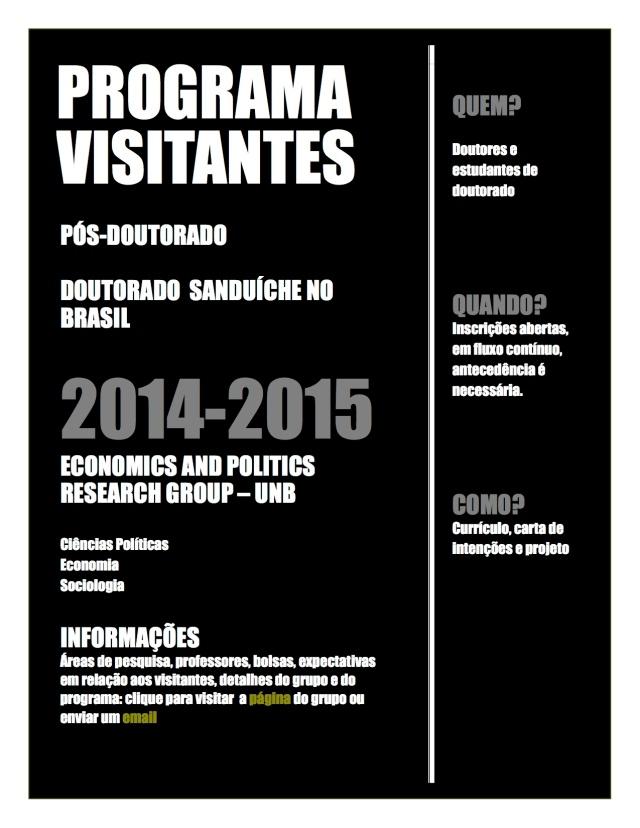 Cartaz Pesquisadores Visitantes 2014 2015