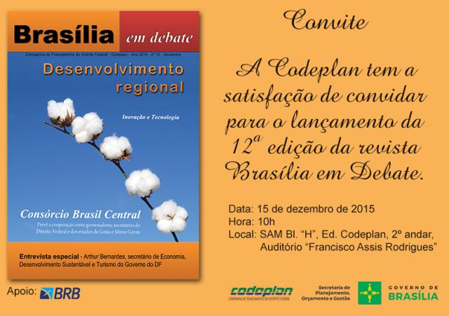 Convite Brasília em debate